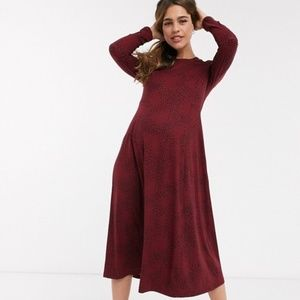NWT New Look Maternity Soft Touch Midi Dress